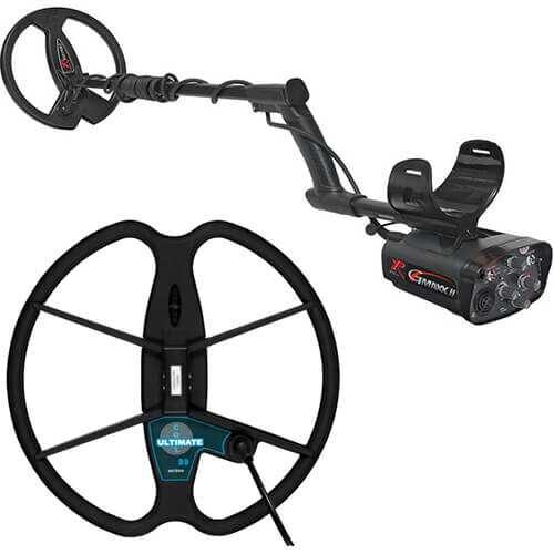 Metaldetector XP GMAXX II V4 with 22.5cm and 33cm Ultimate