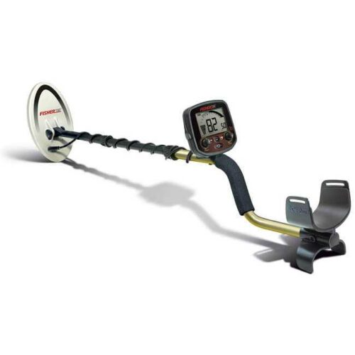 fisher f metal detector standard black and gold