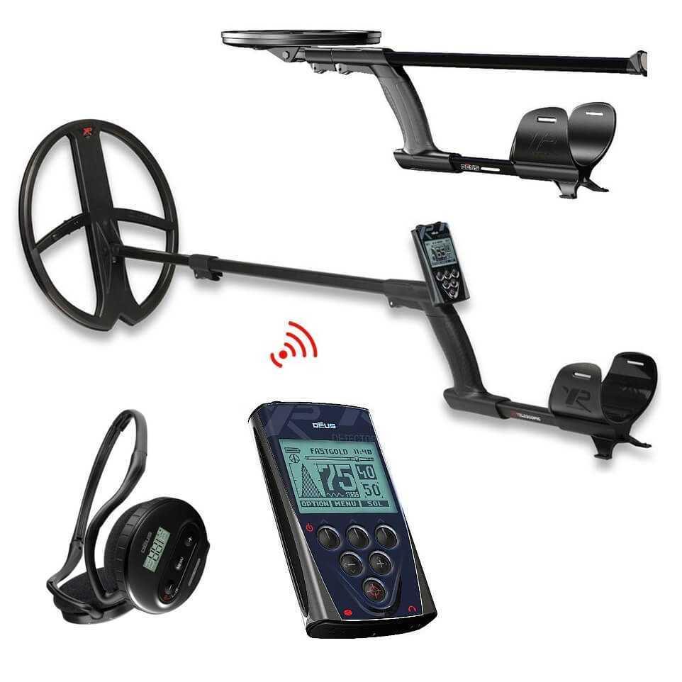 Нов Металотърсач XP DEUS V4 BIG 34х28см + безжични слушалки + дистанционно