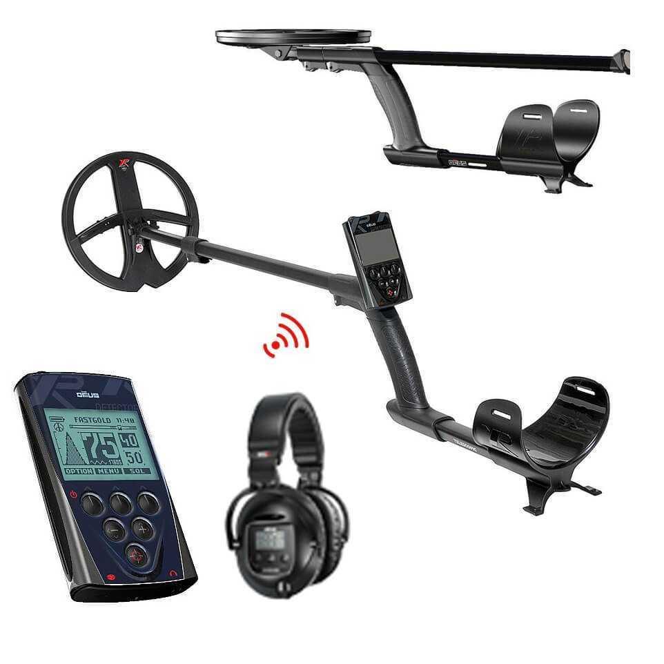 Металотърсач XP DEUS V5 с безжични слушалки SW5 и дистанционно