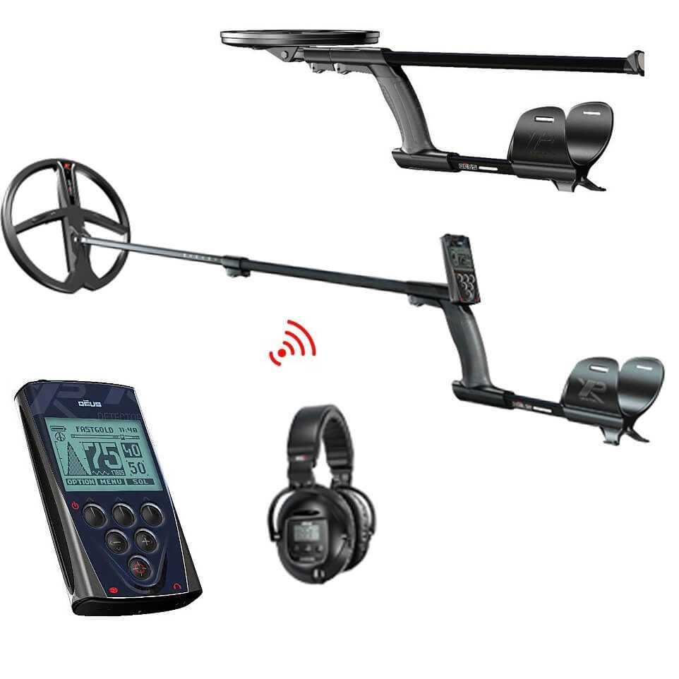 Металотърсач XP DEUS V4 с бобина 28см + безжични слушалки SW5 и дистанционно