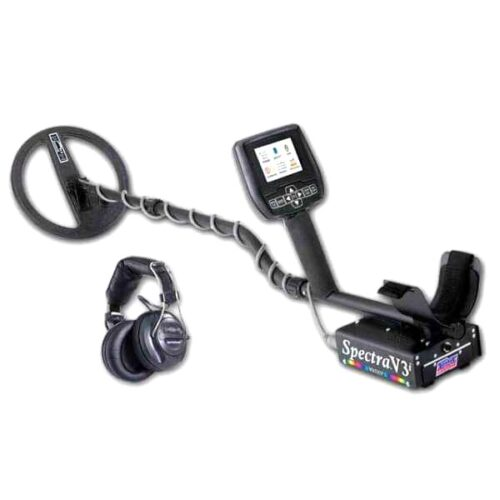Metaldetector White's Spectra V3i with wireless headphones