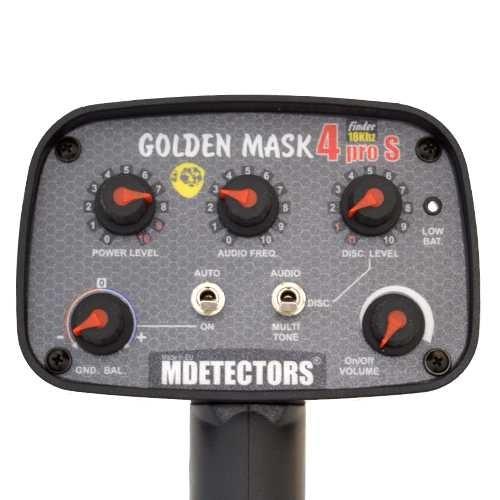 Металотърсач Golden Mask 4 PRO S MDETECTORS – 18Khz с базова 30х25см и безжични слушалки