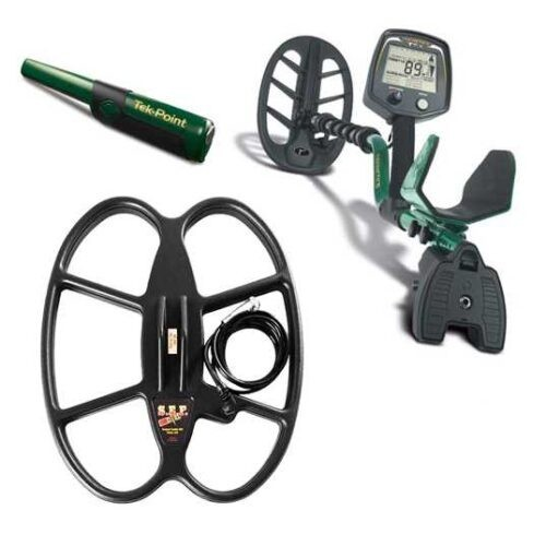Metaldetector Teknetics T2+ with DST soft free pinpointer and 2 coils