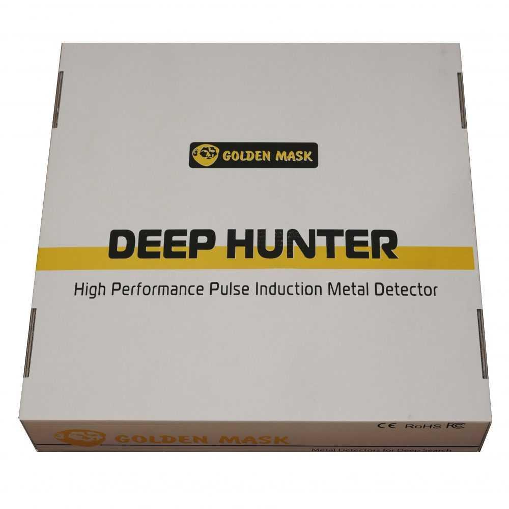 Металотърсач Golden Mask Deep Hunter Pro 3se в комплект 125х125см + 58см + 28×42см и телескопичен стик + раница