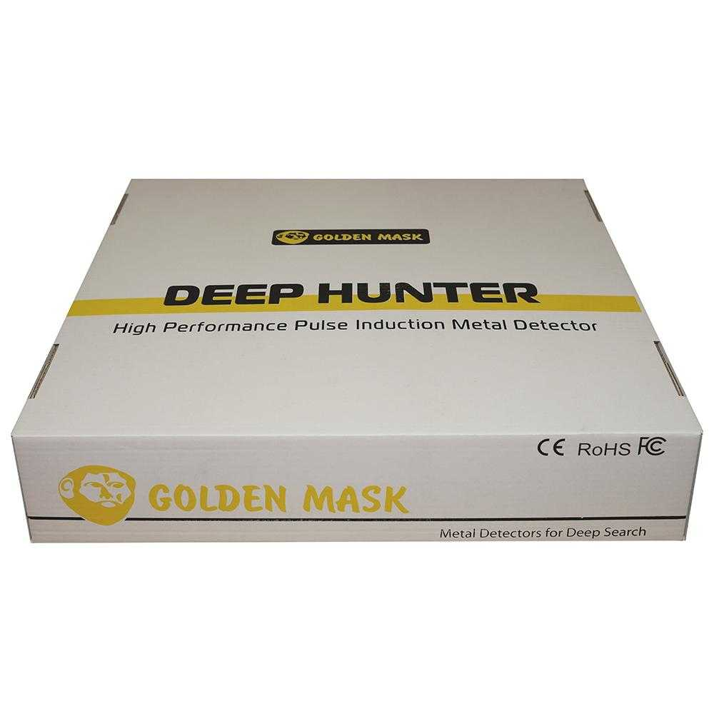 Мощен дълбочинен металотърсач Golden Mask Deep Hunter Pro 5 в комплект 125х125см + 28х42см и телескопичен стик + раница