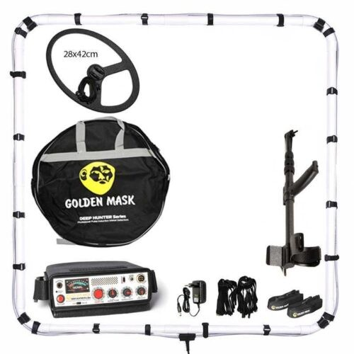 Deep PI metal detector Golden Mask Deep Hunter Pro 3se with 125х125cm + 28х42cm and telescopic handle