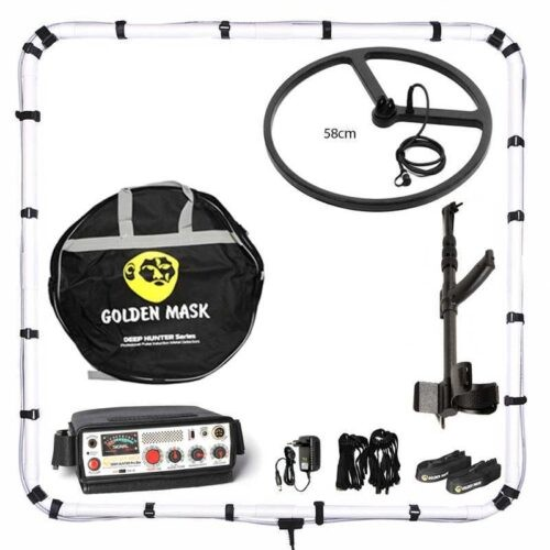 Deep PI metal detector Golden Mask Deep Hunter Pro 3se with 125х125cm + 58cm and telescopic handle