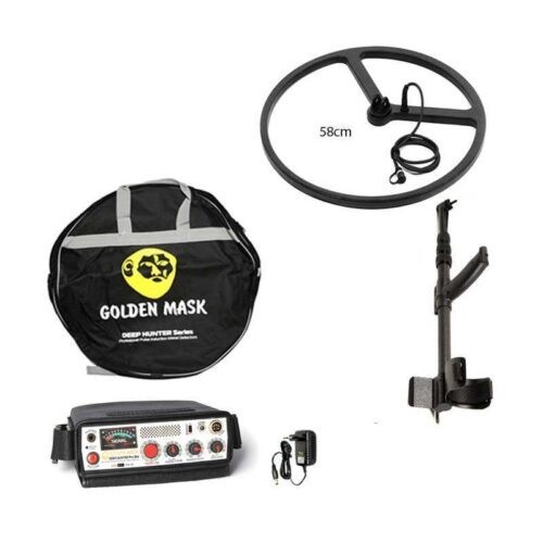 Deep PI metal detector Golden Mask Deep Hunter Pro 3se with 58cm and telescopic handle
