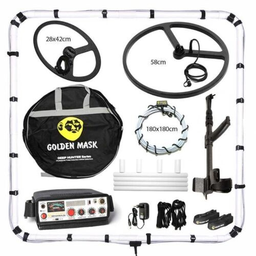 Metaldetector Deep Hunter Pro 3se with 125х125cm + 180х180cm + 58cm + 28×42cm and telescopic handle