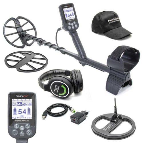 Металотърсач Nokta Makro Simplex с безжични слушалки и сонда 22cm
