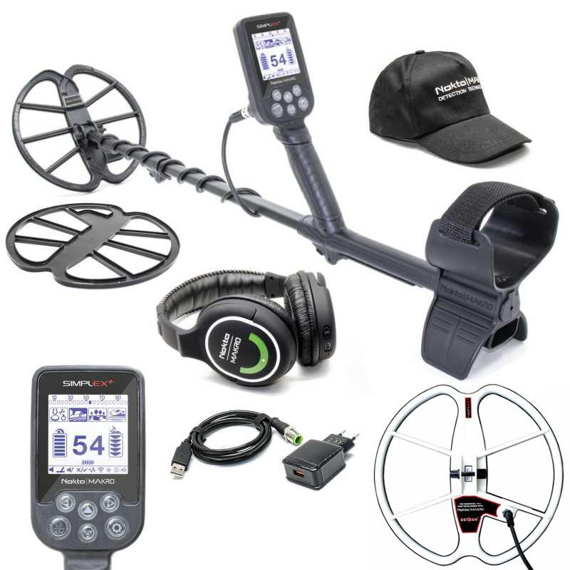 Металотърсач Nokta Makro Simplex+ с безжични слушалки и 33см Ultimate